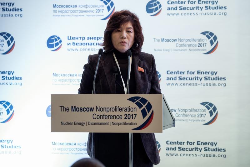 ▲ 북한의 대미 외교 핵심 실무자로 알려진 최선희 북한 외무성 북미국장 ⓒ 핵확산방지 컨퍼런스